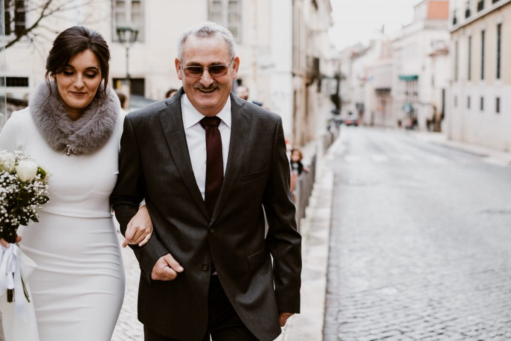 casamento no palacio da cruz vermelha noiva e pai